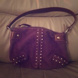Michael Kors Purple Suede handbag